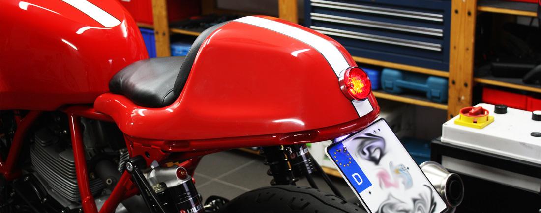 Ducati Sport 1000s Paul Smart GT Heckumbau Kennzeichenhalter Diopa Höcker