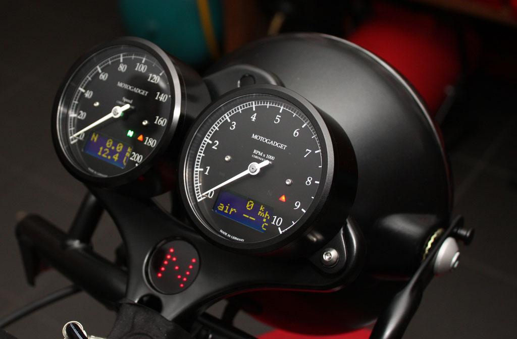 Ducati 1000s Motogadget classic Speedo / Chronoclassic Tacho u. Drehzahlmesser