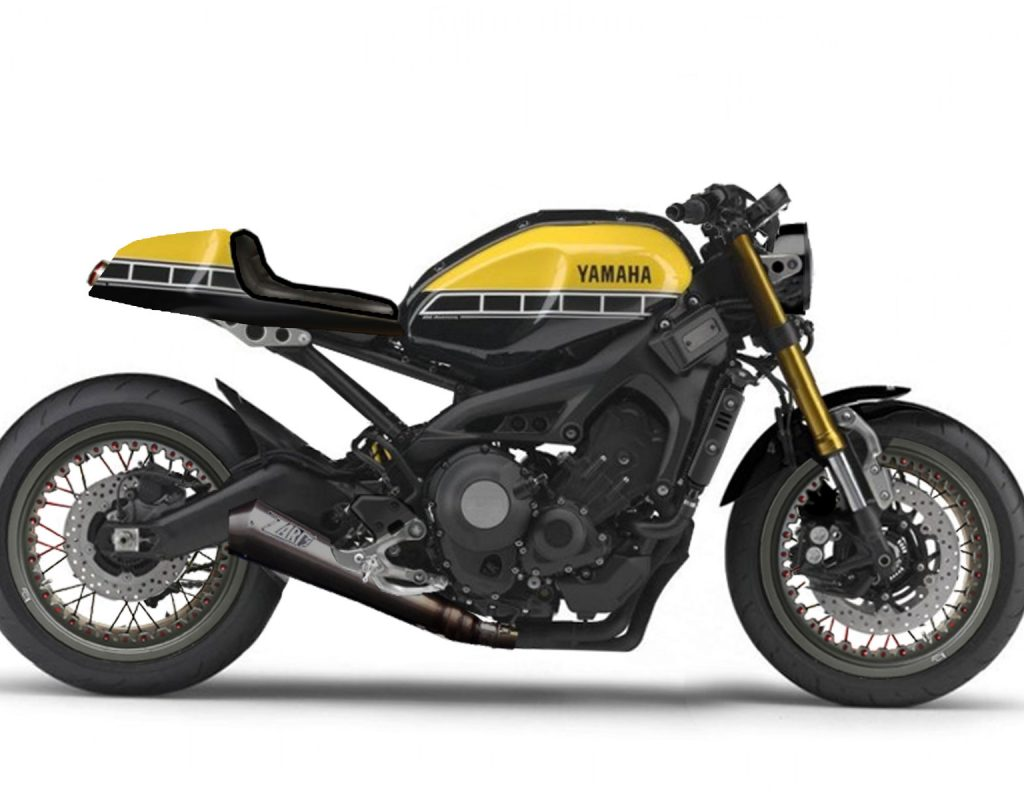 Nice Yardbuilt Yamaha XSR-900 ABS Cafe Racer Project