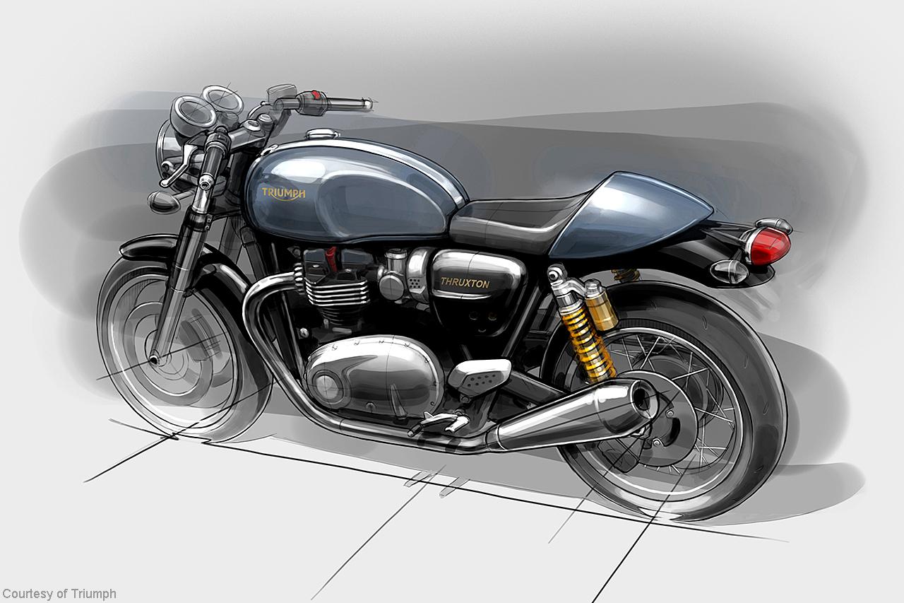 Ducati Scrambler Drawing